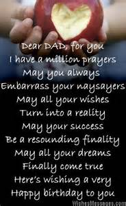birthday poems for dad wishesmessages com