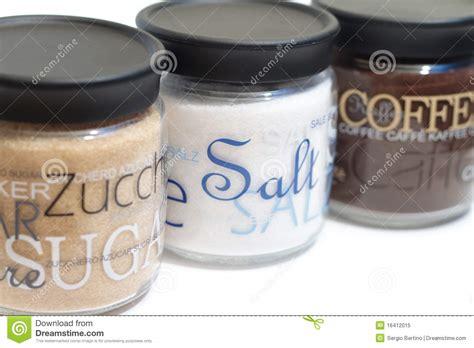 Coffee, Sugar And Salt Jars Royalty Free Stock Photo   Image: 16412015
