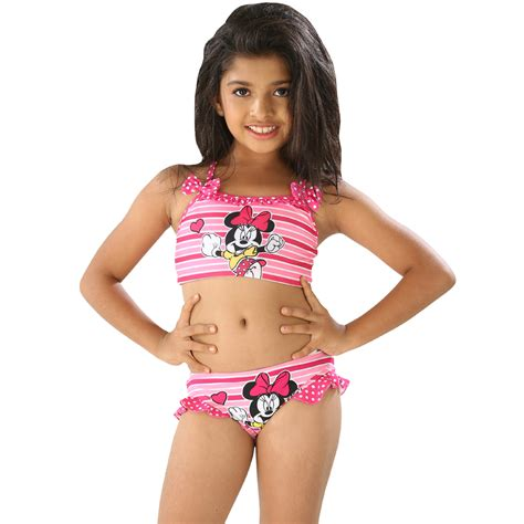 swimwear two piece for kid buy kids girls multi color cute cartoon print halter two