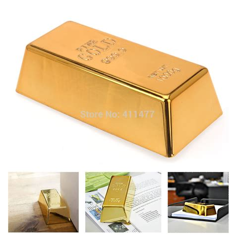 novelty door stops gold bar bullion heavy door stop door stopper wedge paper