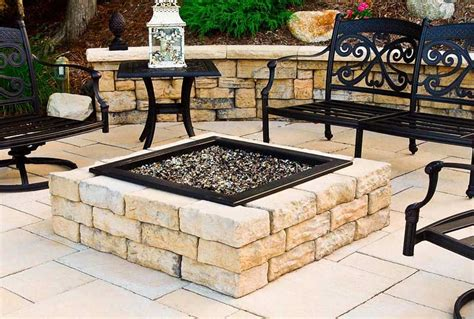 outdoor firepit kit flagstone pit patio block project kit modern patio