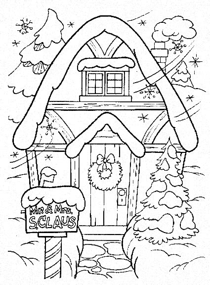 christmas winter coloring pages coloringpages1001 com