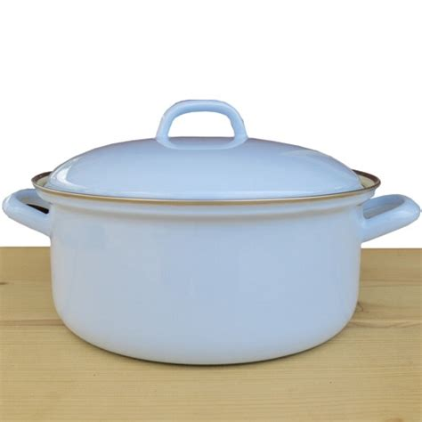 Emaille Topf Induktion by Riess Emaille Topf 24 Cm Blau Kochtopf Mit Deckel Email
