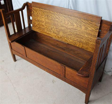 bargain johns antiques antique mission oak bench