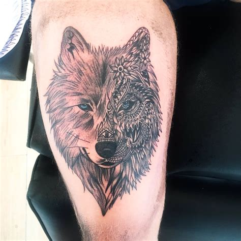 geometric wolf tattoo www imgkid com the image kid has it