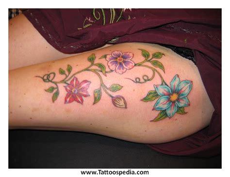 lotus tattoo on thigh tony baxter