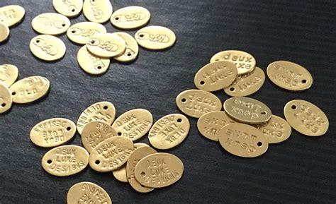 Handmade Jewelry Tags - jewelry tags brass oval handsted custom logo jewelry