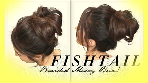 voluminous braided messy bun tutorial cute hairstyles