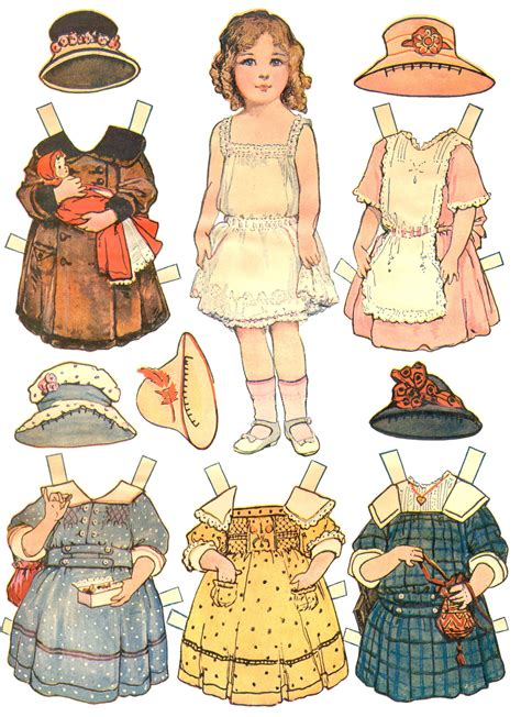 Clothes Out Of Paper - paper dolls and paper doll dresses printable from kid