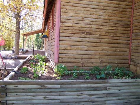 Landscape Timbers Log Cabin Pleasant Valley Solutions Inc