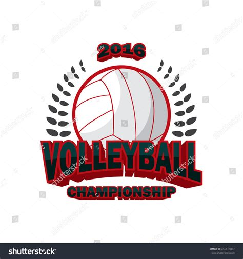 vector illustration of volleyball badge logo templates