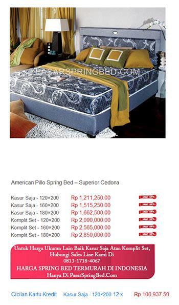 Kasur Bigland Di Balikpapan harga american pillo bed harga bed