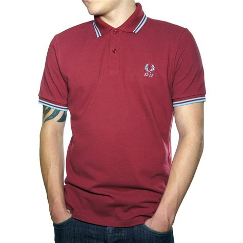 Polo Shirt Fred Perry buy fred perry 60 year tipped polo shirt maroon