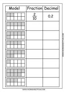 fraction decimal percent conversion chart worksheet 6