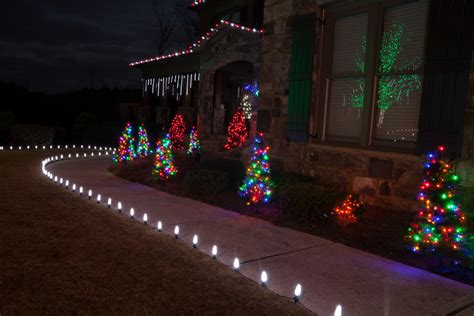 Landscape Rope Lighting Impressive Pre Lit Treein Landscape Traditional With Glamorous Cascading Light Next To