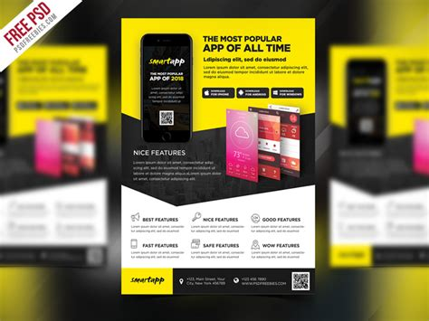 mobile app promotion flyer template psd psdfreebies com
