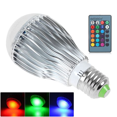 dimmable led l with colour changing base dimmable e27 base rgb led light color changing lamps