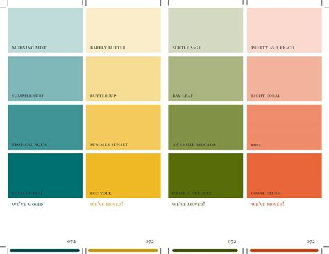 color swatches green paint color swatches