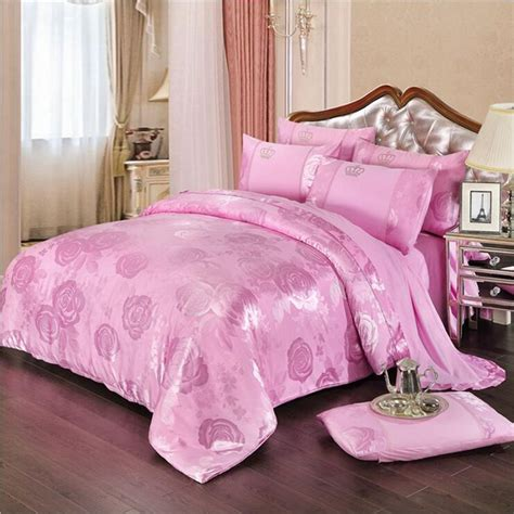 jacquard bed set luxury cotton satin drill bedding set jacquard bed linens