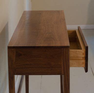 custom danish mid century modern style console table drawers solid wood walnut black elm woodworking custommadecom