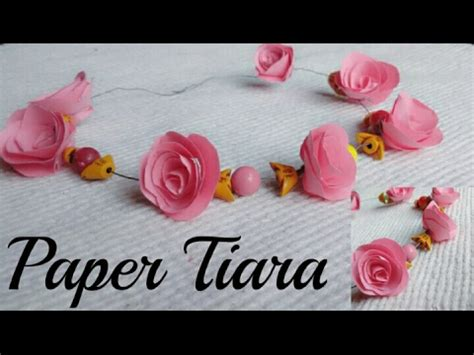 How To Make A Headband Out Of Paper - how to make paper flower tiara headband crown at home