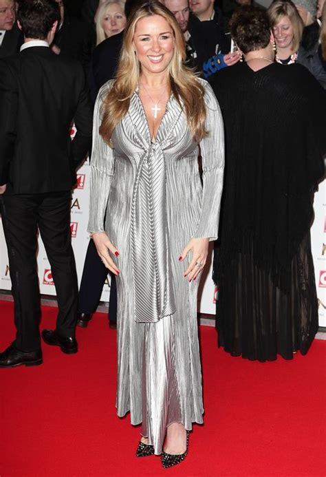 Frock Horror Of The Week Janet Porter by Sweeney Dazzles On The Ntas Carpet In Silver