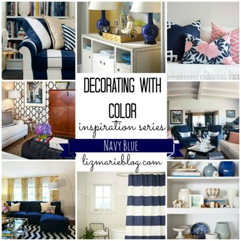 navy blue home decor decorating with color navy liz marie blog