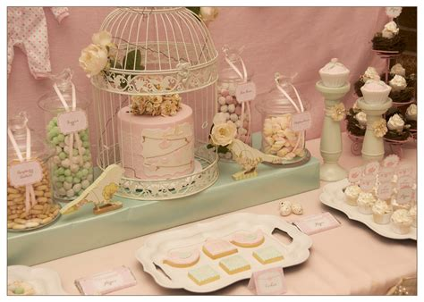 Vintage Themed Baby Shower by Vintage Bird Themed Baby Shower
