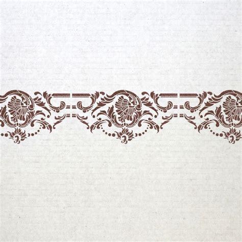 wall art pattern stencil wall border stencils pattern odelie reusable template for
