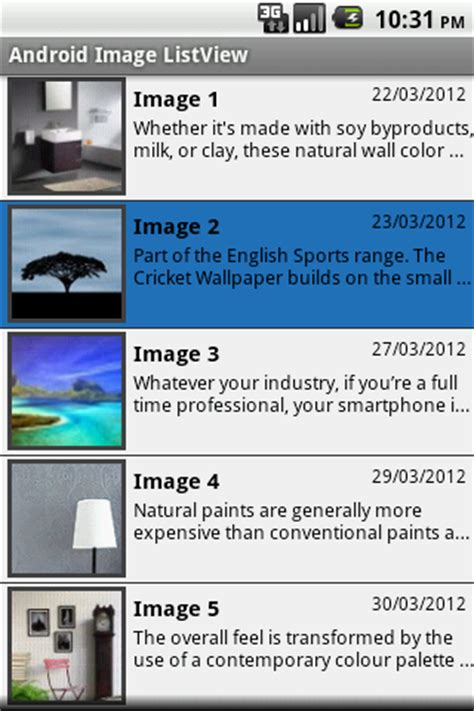 custom layout in listview android android development android image listview with custom