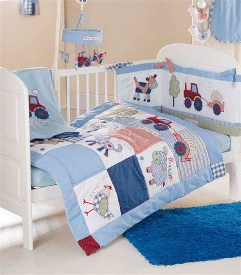 tractor bedding set baby weavers 4 piece cot cot bed bedding bale busy