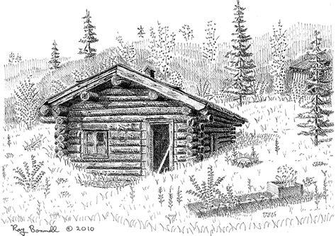 cabin sketch sketches of alaska sketches of alaska cabin fever