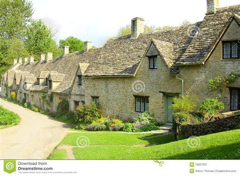 bibury cottages arlington row cottages bibury cotswolds stock