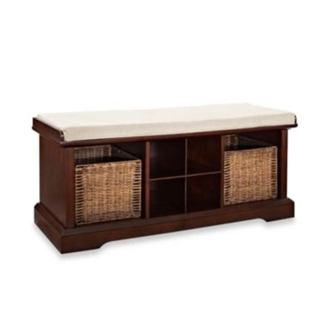 buy storage bench buy white storage bench seat from bed bath beyond