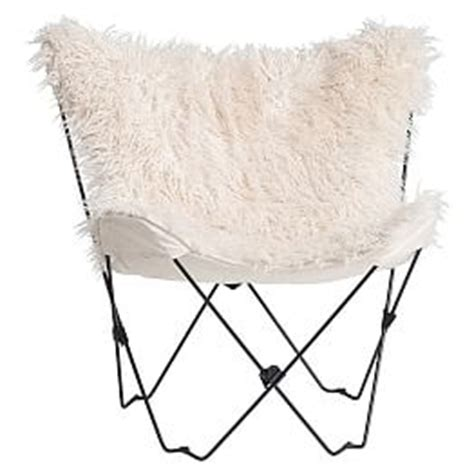 faux fur butterfly chair pink seating pbteen