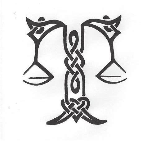 tribal libra scales tattoo celtic libra scales s drawings