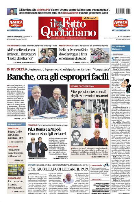 testate dei giornali le prime pagine dei quotidiani che sono in edicola oggi 29