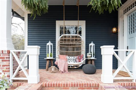 fun colorful bohemian spring porch update reveal