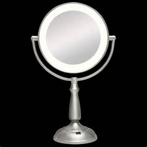 Vanity Led Light Mirror Ultra Bright Dual Sided 1x 12x Led Light Vanity Mirror By