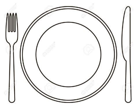 fork and plate template pictures to pin on pinterest
