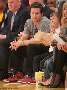 match commercial actress jordan mark wahlberg and his two boys sport matching sneakers as