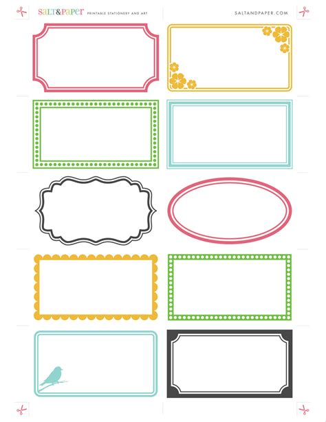 printable label packaging ideas and free printable labels on pinterest