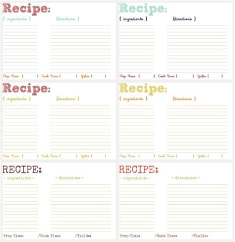 How To Make Your Own Recipe Card Template by 1000 Ideas About Cookbook Template On Make