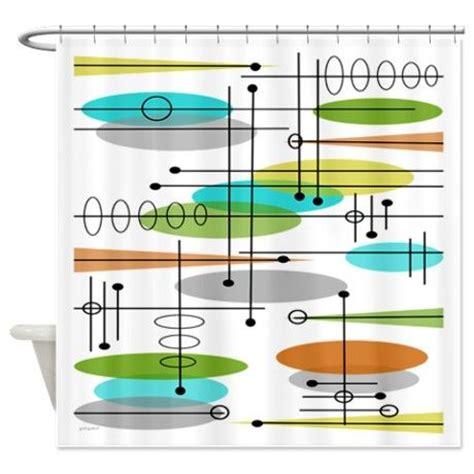 atomic shower curtain atomic inspired shower curtain bath pinterest shower