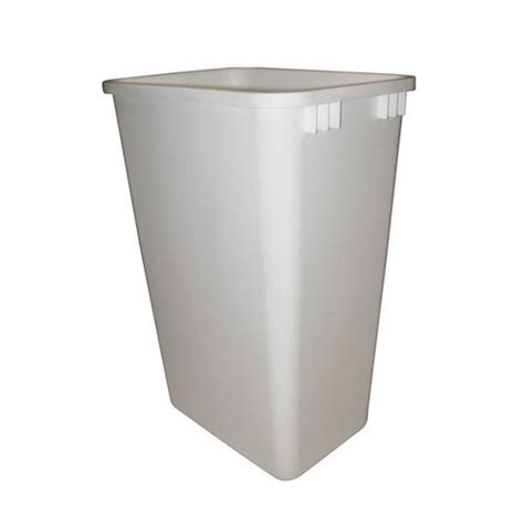 cabinet trash can replacement rev a shelf 50 quart premiere white polymer replacement