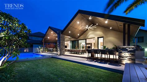 Poolhouse by Outdoor Living Area Pool And Barbecue Created In