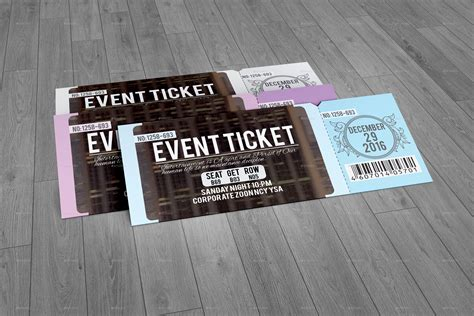 design of event tickets event ticket by perfectpixel14 graphicriver