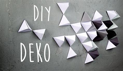 wände dekorieren geometrische wand dekoration aus papier diy
