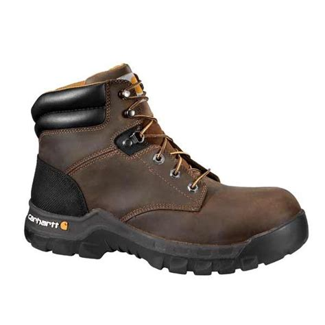 carhartt s rugged flex 6 work boots cmf6066 carhartt s 6 inch brown rugged flex work boot non