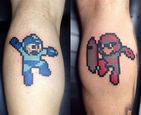 tattoo 3d games megaman protoman colour 3d tattoos pinterest